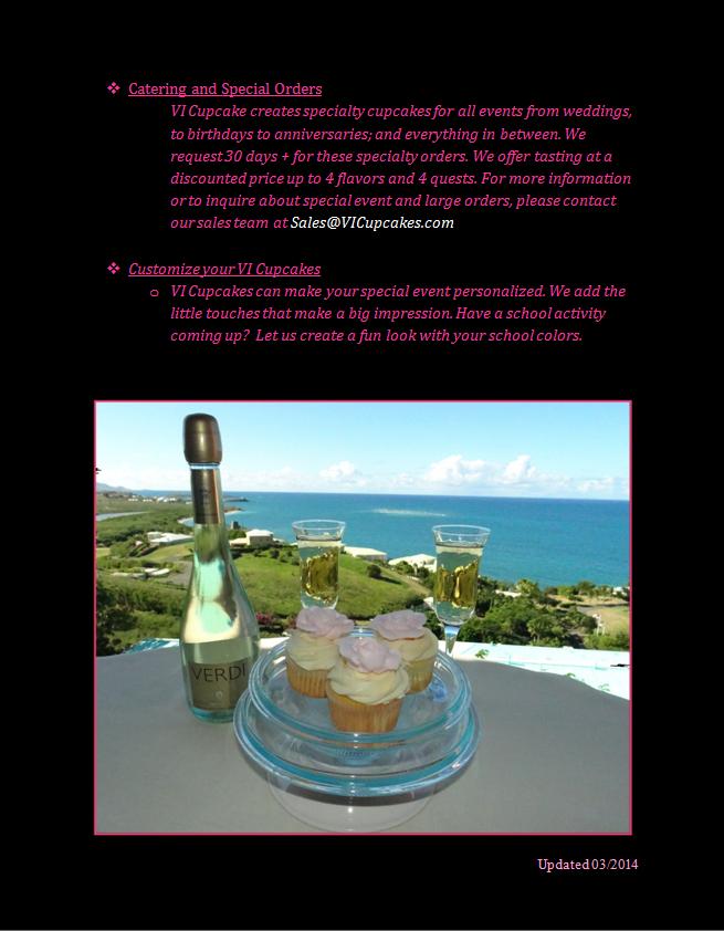VI Cupcakes Menu 3
